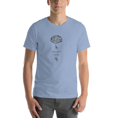 """Gender Brain"" Classic Tee Baby Blue / S - Equally Younique LGBTQ Shop"