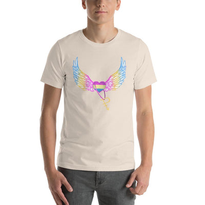 """Colorful Pride Arrow"" Unisex T-Shirt Soft Cream / S - Equally Younique LGBTQ Shop"