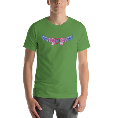 """Equality With Wings"" Short-Sleeve Unisex T-Shirt Leaf / S - Equally Younique LGBTQ Shop"