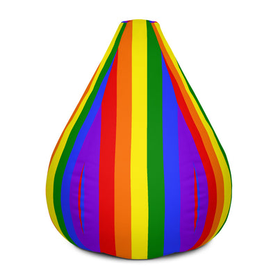 Rainbow Bean Bag Chair w/ filling  - Equally Younique LGBTQ Shop