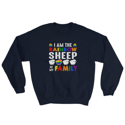 """I Am The Rainbow Sheep Of My Family"" Sweatshirt Navy / S - Equally Younique LGBTQ Shop"