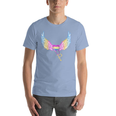 """Colorful Pride"" Short-Sleeve Unisex T-Shirt Baby Blue / S - Equally Younique LGBTQ Shop"