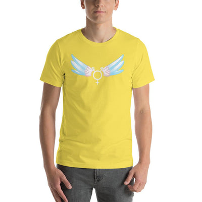 """Classic Trans"" Short-Sleeve Unisex Shirt Yellow / S - Equally Younique LGBTQ Shop"