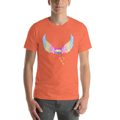 """Colorful Pride Arrow"" Unisex T-Shirt Heather Orange / S - Equally Younique LGBTQ Shop"