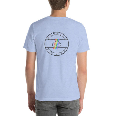 """Gay Pride Heart With Wings"" Short-Sleeve T-Shirt  - Equally Younique LGBTQ Shop"