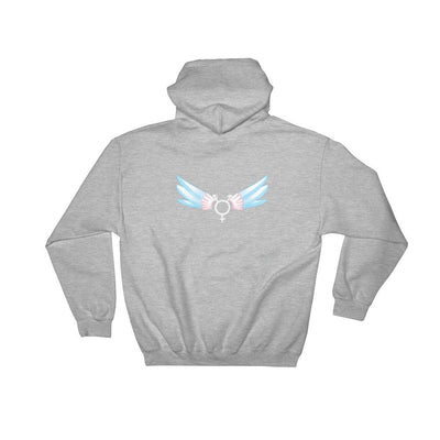 """Trans Symbol With Wings"" Hoodie Sport Grey / S - Equally Younique LGBTQ Shop"