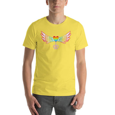 """Female Symbol"" Pride Short-Sleeve T-Shirt Yellow / S - Equally Younique LGBTQ Shop"
