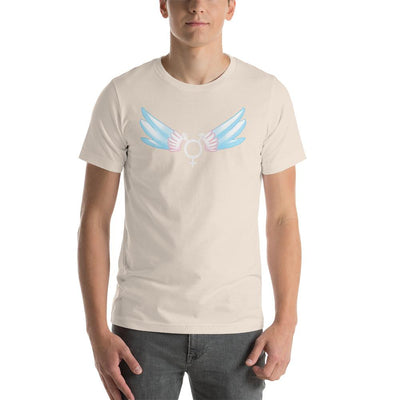 """Classic Trans"" Short-Sleeve Unisex Shirt Soft Cream / S - Equally Younique LGBTQ Shop"