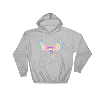 """Pansexual"" Hooded Sweatshirt Sport Grey / S - Equally Younique LGBTQ Shop"