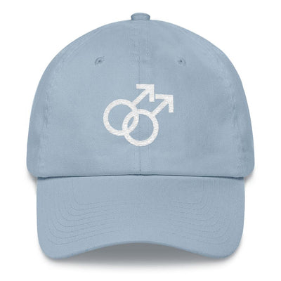 """Gay Pride"" Hat Light Blue - Equally Younique LGBTQ Shop"