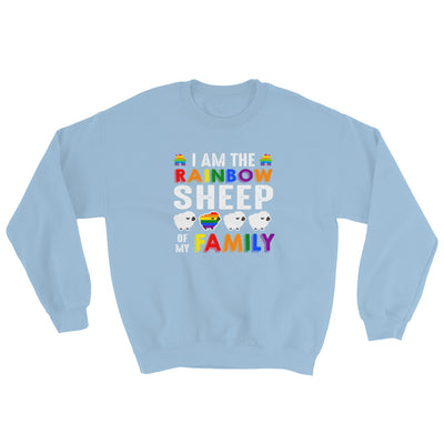 """I Am The Rainbow Sheep Of My Family"" Sweatshirt Light Blue / S - Equally Younique LGBTQ Shop"