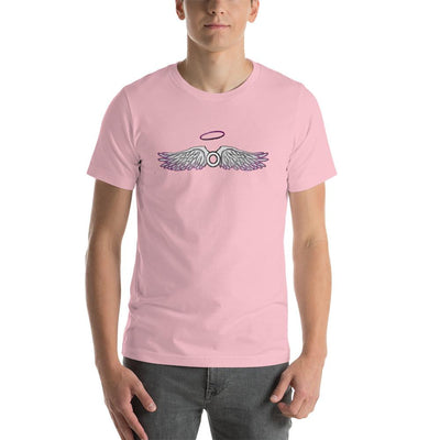 """Asexual With Wings"" Short-Sleeve Unisex T-Shirt Pink / S - Equally Younique LGBTQ Shop"