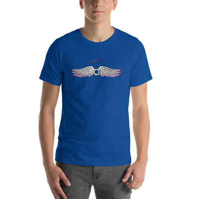 """Asexual With Wings"" Short-Sleeve Unisex T-Shirt True Royal / S - Equally Younique LGBTQ Shop"