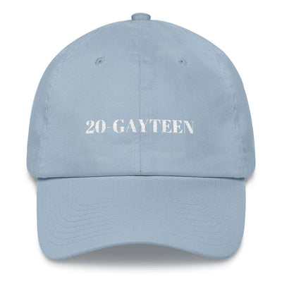 """20-GAYTEEN"" Ball Cap Light Blue - Equally Younique LGBTQ Shop"