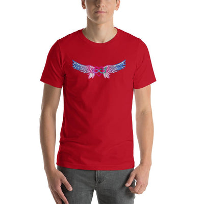 """Equality With Wings"" Short-Sleeve Unisex T-Shirt Red / S - Equally Younique LGBTQ Shop"