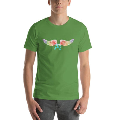 """Gay With Wings"" Short-Sleeve Unisex T-Shirt Leaf / S - Equally Younique LGBTQ Shop"