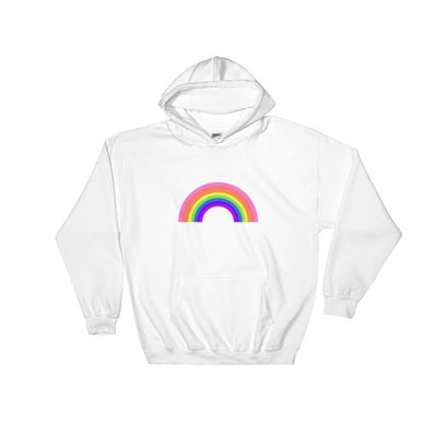 LGBTQ+ Original Rainbow Hooded Sweatshirt White / S - Equally Younique LGBTQ Shop