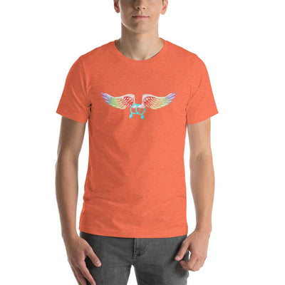 """Gay With Wings"" Short-Sleeve Unisex T-Shirt Heather Orange / S - Equally Younique LGBTQ Shop"