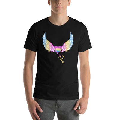 """Colorful Pride"" Short-Sleeve Unisex T-Shirt Black / S - Equally Younique LGBTQ Shop"