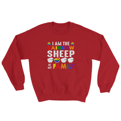 """I Am The Rainbow Sheep Of My Family"" Sweatshirt Red / S - Equally Younique LGBTQ Shop"