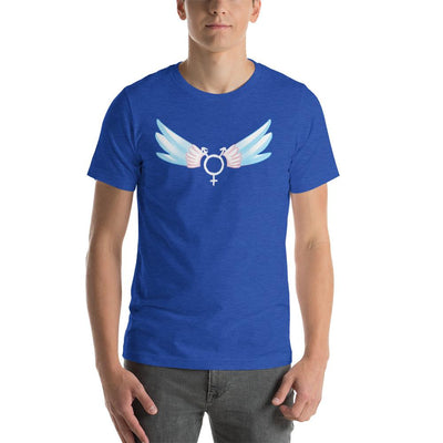 """Classic Trans"" Short-Sleeve Unisex Shirt Heather True Royal / S - Equally Younique LGBTQ Shop"
