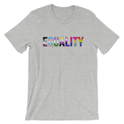 """Equality"" Short-Sleeve Unisex T-Shirt with Tear Away Label Athletic Heather / S - Equally Younique LGBTQ Shop"