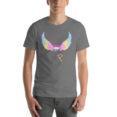 """Colorful Pride"" Short-Sleeve Unisex T-Shirt Deep Heather / S - Equally Younique LGBTQ Shop"