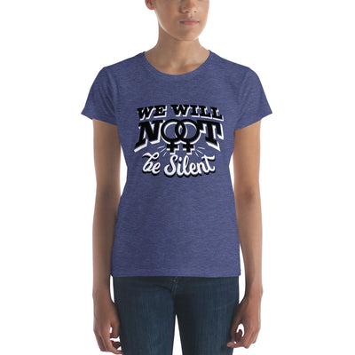 """We Will NOT Be Silent"" Women's short sleeve t-shirt Heather Blue / S - Equally Younique LGBTQ Shop"