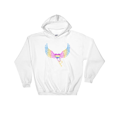 """Pansexual"" Hooded Sweatshirt White / S - Equally Younique LGBTQ Shop"