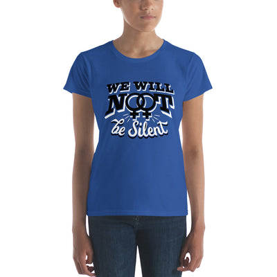 """We Will NOT Be Silent"" Women's short sleeve t-shirt Royal Blue / S - Equally Younique LGBTQ Shop"