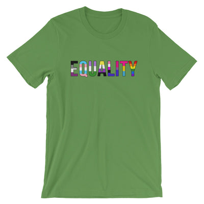 """Equality"" Short-Sleeve Unisex T-Shirt with Tear Away Label Leaf / S - Equally Younique LGBTQ Shop"