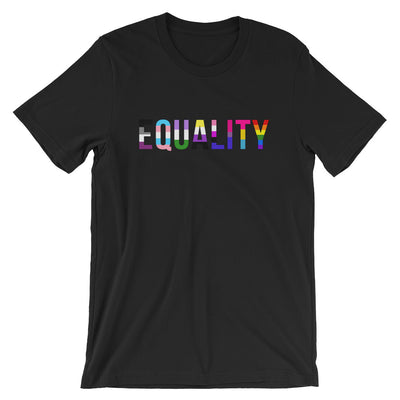 """Equality"" Short-Sleeve Unisex T-Shirt with Tear Away Label Black / XS - Equally Younique LGBTQ Shop"