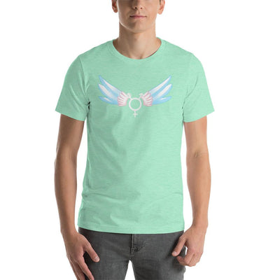 """Classic Trans"" Short-Sleeve Unisex Shirt Heather Mint / S - Equally Younique LGBTQ Shop"