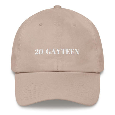 """20-GAYTEEN"" Ball Cap Stone - Equally Younique LGBTQ Shop"