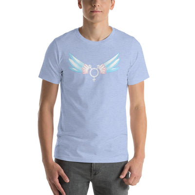 """Classic Trans"" Short-Sleeve Unisex Shirt Heather Blue / S - Equally Younique LGBTQ Shop"