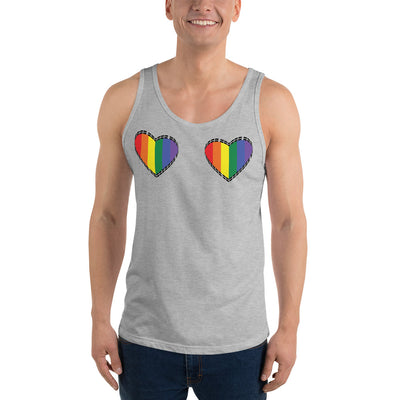 Rainbow Hearts Unisex Tank Top  - Equally Younique LGBTQ Shop