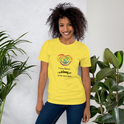 """Every Flower Blooms"" Short-Sleeve Unisex T-Shirt Yellow / S - Equally Younique LGBTQ Shop"