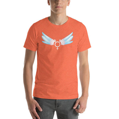 """Classic Trans"" Short-Sleeve Unisex Shirt Heather Orange / S - Equally Younique LGBTQ Shop"