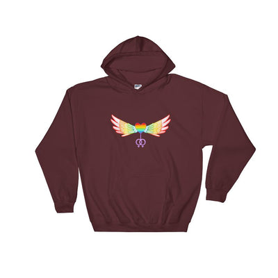 """The Ultimate"" Gay Hoodie Maroon / S - Equally Younique LGBTQ Shop"