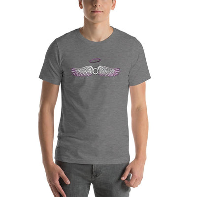 """Asexual With Wings"" Short-Sleeve Unisex T-Shirt Deep Heather / S - Equally Younique LGBTQ Shop"