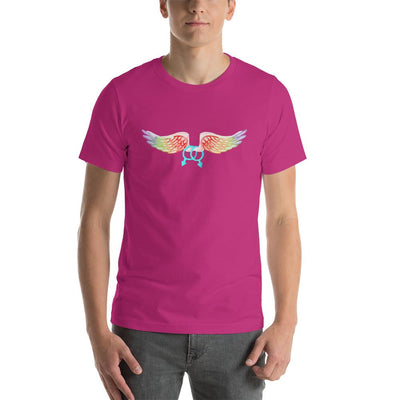 """Gay With Wings"" Short-Sleeve Unisex T-Shirt Berry / S - Equally Younique LGBTQ Shop"