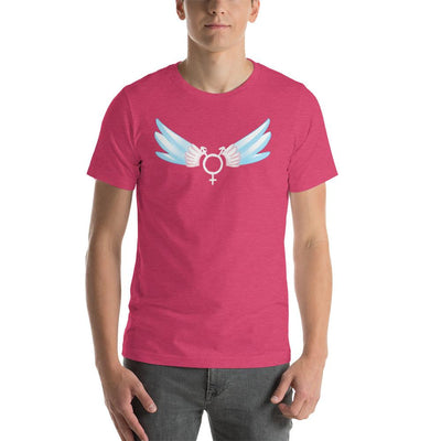 """Classic Trans"" Short-Sleeve Unisex Shirt Heather Raspberry / S - Equally Younique LGBTQ Shop"