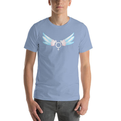 """Classic Trans"" Short-Sleeve Unisex Shirt Baby Blue / S - Equally Younique LGBTQ Shop"