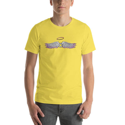 """Asexual With Wings"" Short-Sleeve Unisex T-Shirt Yellow / S - Equally Younique LGBTQ Shop"