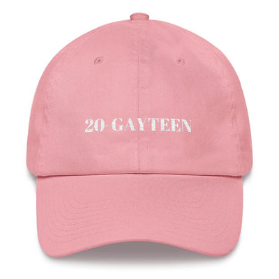 """20-GAYTEEN"" Ball Cap Pink - Equally Younique LGBTQ Shop"