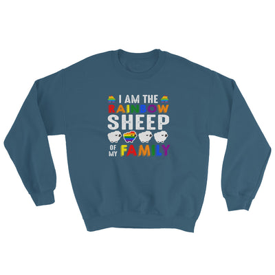 """I Am The Rainbow Sheep Of My Family"" Sweatshirt Indigo Blue / S - Equally Younique LGBTQ Shop"