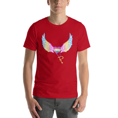 """Colorful Pride Arrow"" Unisex T-Shirt Red / S - Equally Younique LGBTQ Shop"
