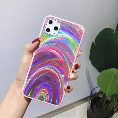 Shiny Rainbow Mirror iPhone Cases For iPhone XS MAX / Pink - Equally Younique LGBTQ Shop
