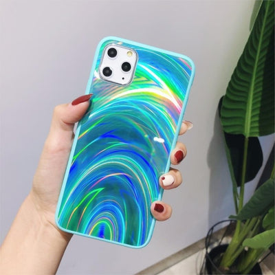Shiny Rainbow Mirror iPhone Cases For iPhone XS MAX / Green - Equally Younique LGBTQ Shop
