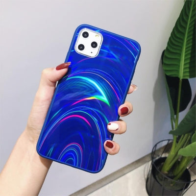Shiny Rainbow Mirror iPhone Cases For iPhone XS MAX / Blue - Equally Younique LGBTQ Shop